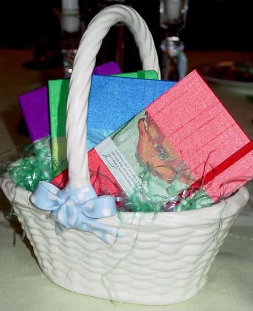 Moleskine Easter basket